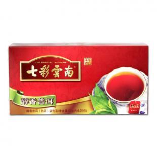 七彩云南普洱茶 醇香普洱袋泡茶50克 2011普洱茶熟茶