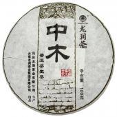 2011年 龙润普洱茶中木普洱生饼 云南普洱茶 100克/饼