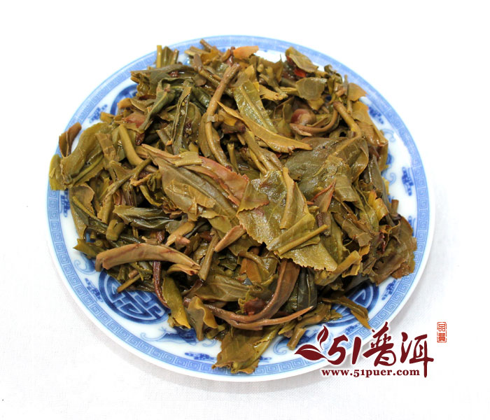 2013年郎河黄金春早生饼 500克/饼 郞河 普洱茶