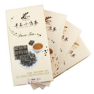 疯狂抢购 2012年班章茶厂老曼峨早春小方茶生茶 720克 4盒/份