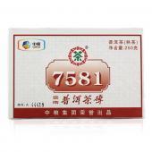 2014年中茶7581熟砖 中茶普洱茶熟茶 中粮集团出品 250克/砖