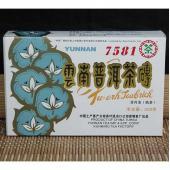 2007年中茶牌普洱茶 7581绿花砖茶 陈年老茶 普洱熟茶250g/片