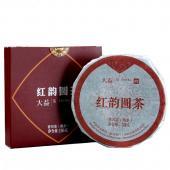 2018年云南普洱茶大益红韵圆茶 熟茶饼 勐海茶厂大益茶叶 100克/盒