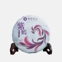 七彩云南 紫鹃普洱茶生茶 2019年紫嫣普洱 高花青素小茶饼 200g/饼