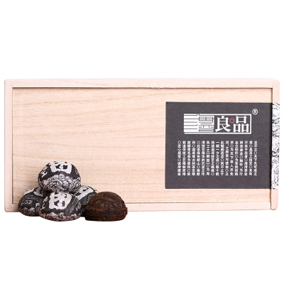 海湾老同志普洱茶熟茶 良品系列 鹏图熟沱 2018年 250克木盒装