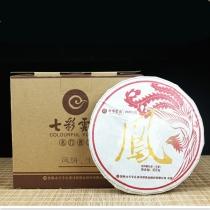 七彩云南龙凤饼 凤饼 普洱生茶 357克/饼
