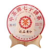 【新品上市】2018年中茶普洱茶 臻品黄印熟茶 云南七子饼茶 357克/饼
