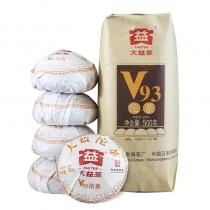 【新品上市】2018年大益 普洱沱茶V93(1801批) 熟茶 100克/沱 5沱/条