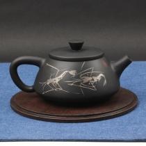 云南建水紫陶 石瓢壶  后月定制款茶具