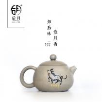 【五一特惠】云南建水紫陶 西施壶(偏灰)  后月定制款茶具